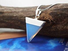 Triangle Pendant Necklace Stone Triangle Raw Stone Silver