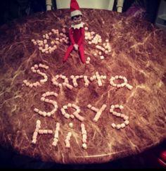elf on the shelf santa says hi