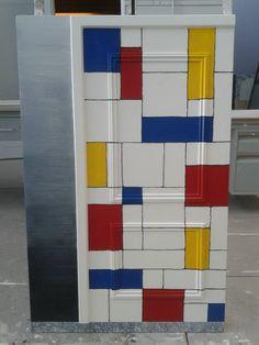 Mondrean ''door'' made by me as school project at NIMETO