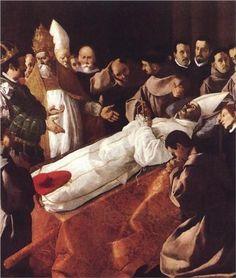 ZURBARAN LA MUERTE DE SAN BUENABENTURA 1629