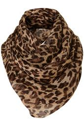 leopard print scarf.  i need one
