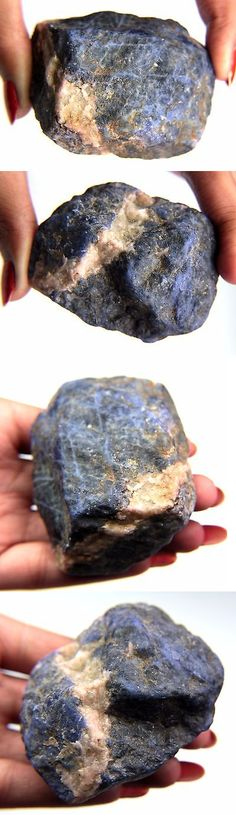Sodalite 69179: Earth Mind 762.68 Ct. Blue White Sodalite Slices Rough Mineral Specimen -> BUY IT NOW ONLY: $35.99 on eBay!