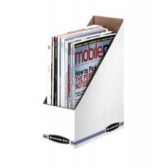 Fellowes Bankers Box Stor/file Magazine File - White - Cardboard - 12 Pack for sale online Mobiles, Magazine File Holders, Magazine Racks, Literature Organizer, Discount Office Supplies, Magazine Files, File Organiser, Office Supply Organization, Classroom Organization