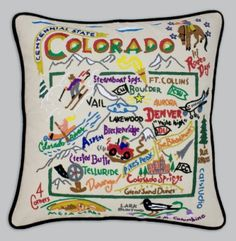 Cat Studio embroidered pillows...so cool!