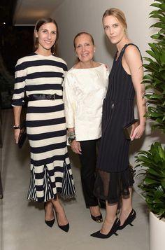 Samantha Traina, Danielle Steel, and Vanessa Traina Snow in Calvin Klein Collection