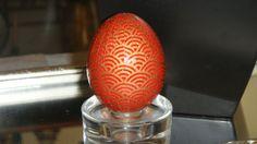 """Japanese Washi Egg - """"Curves"""""""