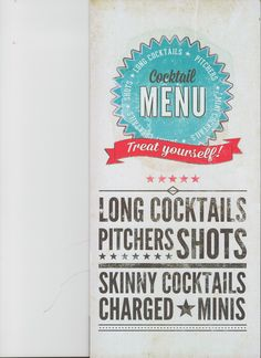 Check out our new cocktail menu, filled with all your clasic favourites and some new ones for you try :)
