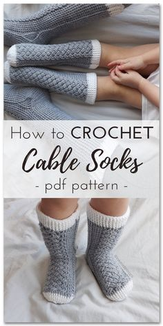 I love this crochet cable socks pattern! They look absolutely beautiful and so comfy and cozy. Perfect DIY crafts project for cold winter days! After finishing making them in a reward I can actually wear these beauties lol! According to the reviews the pattern should have clear instructions and it does seem to be quite easy to follow for a beginner like me! Will get a cup of hot chocolate and start making them right away. #crochetgoals #diy #crafts #socks #cableknit #etsy #ad #crochet #pdf