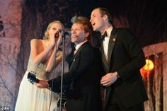 Jon Bon Jovi w/ Taylor Swift and Lorenza Ponce and Bobby Bandiera At The Winter Whites Charity Gala and Prince William joined in the song Living on a Prayer, at the Kensington Palace— Bon Jovi