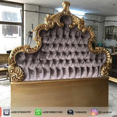 Antique Gold Carved Headboard Marion