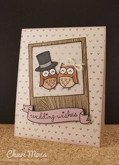 Lawn Fawn Say Cheese, Critters in the Forest, Bannerific, Sophie's Sentiments  WeddingOwls by Chari Moss, via Flickr