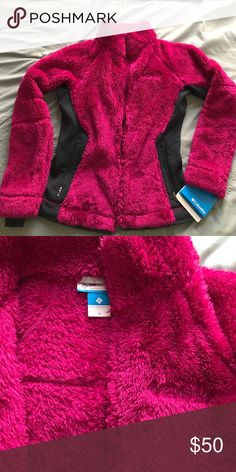 Columbia Women's Magenta Fleece Jacket Extremely soft and warm Columbia jacket, fitted and a very lovely magenta color. Columbia Jackets & Coats