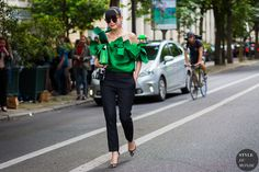 Haute Couture Fall 2016 Street Style: Leaf Greener
