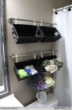 Cute storage idea. Allows for easy access. The best use of decor baskets I think I have ever seen!