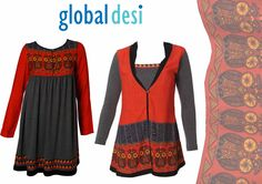 """""""Hello to all our Global Desi fans.  Check out our all new Spring Summer 2013 Collection available in stores now!  Walk into the nearest Global Desi Store and surprise yourself to some uber stylish buys.""""    1) Tunic - Rs. 1399/-    2) Top - Rs. 1599/-"""
