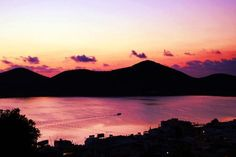 Sunset in Elounda