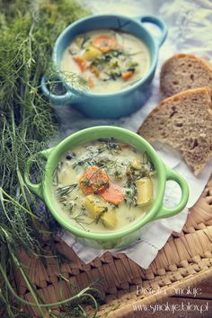Zupa koperkowo – szpinakowa Looks Yummy, Soups And Stews, Cheeseburger Chowder, Hummus, Meals, Dinners, Good Food, Food And Drink, Vegetarian