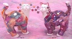 whimsiclay fancy felines