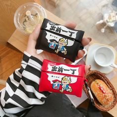 Cute soft protective cover for Airpod pro cases (Airpod charger case not included!) with clip shaped like Nissin ramen packets! Airpod Pro, Airpod Case, Ipod, Iphone Phone Cases, Aesthetic Phone Case, Earphone Case, Royal Icing Cookies, Apple Products, Colors