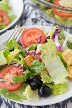 Yellow Bliss Road Olive Garden Salad Copycat - Yellow Bliss Road