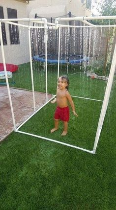 Make your own splash pad - Trending on Pinterest: Fun Summer Water Play Ideas for Your Kids - Photos