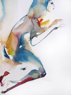 "Saatchi Art Artist Sylvia Baldeva; Painting, ""Acting - watercolor"" #art"