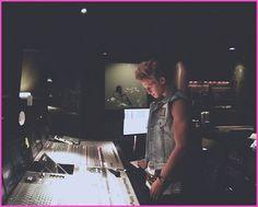 Cody Simpson Visits The Recording Studio On November 20, 2012