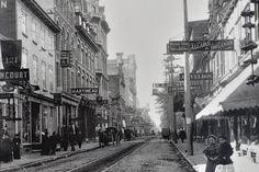 La rue Saint-Joseph en 1900