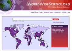 WorldWideScience es un motor de búsqueda compuesto por diferentes bases de datos científicas nacionales e internacionales. Interactive Map, Us Map, Techno, Learning, Science, Tecnologia, Map Of Usa