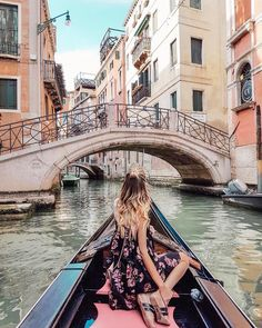 "27.3k Likes, 433 Comments - Leonie Hanne (@ohhcouture) on Instagram: ""Second time in Venice , first time riding a gondola through the dreamy canals. Loved sharing this…"""