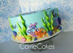 Dolphin Cake, Corrie Cakes Dolphin Birthday Cakes, Dolphin Birthday Parties, Dolphin Cakes, Ocean Cakes, Beach Cakes, Fondant Cakes, Cupcake Cakes, Cupcakes, Under Sea Cake