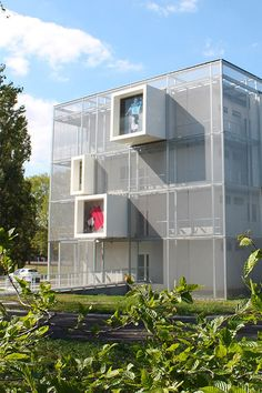 Maison des Sports Talence. HAVER Architectural Metal Mesh facade. Architect: JL Faye