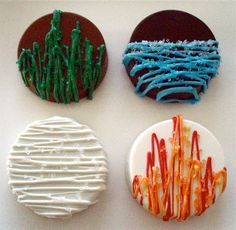 Lindsay Ann Bakes: Earth Day Chocolate Covered Oreo Cookies - The Elements: land, water, wind & fire