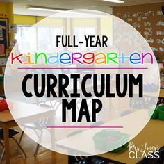 Year-Long KINDERGARTEN Curriculum Map. Free Download.