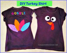 Gobble Gobble  This turkey shirt gets everyone talking and makes for some very cute pictures!