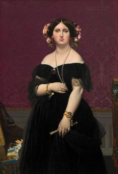 This artwork was created by the artist Jean-Auguste-Dominique Ingres in 1851. The version of the painting was painted with the size: 147 x 100 cm (57 7/8 x 39 3/8 in) and was painted with the technique oil on canvas. This artwork is included in the National Gallery of Art's collection. With courtesy of - National Gallery of Art, Washington (licensed: public domain).In addition, the work of art has the creditline: . The alignment of the digital reproduction is portrait with a side ratio of 2 : 3, Auguste, Dominique, Hair Decorations, National Gallery Of Art, Classic Image, French Artists, Madame, Image Collection, Heritage Image