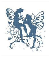Silhouette Fairies : Counted Cross Stitch Patterns by PinoyStitch, Cross Stitch ...