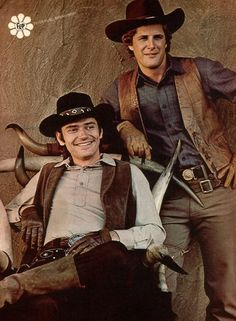 Alias Smith and Jones (Pete Duel & Ben Murphy) - I had a crush on Peter Duel - when he shot himself, I was beside myself  - i will never forget that...