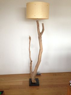 Floor Lamp manufacturing of weathered oak on by GBHNatureArt