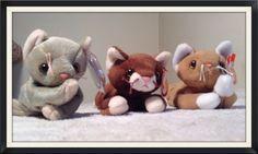 69da05589d2 CAT LOT 3 TY Beanie Babies Baby POUNCE NIP SCAT PVC   PE Pellets  Ty