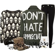 """don't hate"" by vanessashark on Polyvore"
