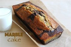 Vanilla and chocolate marble cake! Delicious & easy