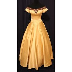 Fairy tale / Once Upon A Time Inspired Custom Made Golden Belle Gown... ❤ liked on Polyvore