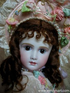 Thuillier porcelain Reproduction Doll by Emily HartFrom emilyhartdolls