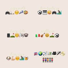 One Direction in emojis