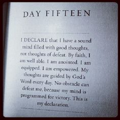 I declare.... Good thoughts