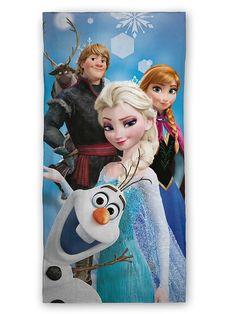 Unelmanpehmeää pyyhettä koristavat Frozen-elokuvasta tutut ystävykset. 100 % puuvillaa. Pesu 40 asteessa. Mitat 70 x 140 cm.