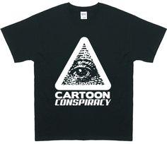 Men's Cartoon Conspiracy Black T-Shirt
