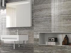 Wand- und Bodenbelag aus Feinsteinzeug mit Stein-Effekt TALE SILVER VERSO - Ceramiche Caesar
