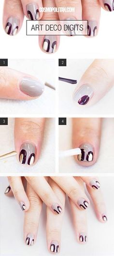 Easy Art Deco Nails